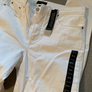 New Banana Republic white jeans.